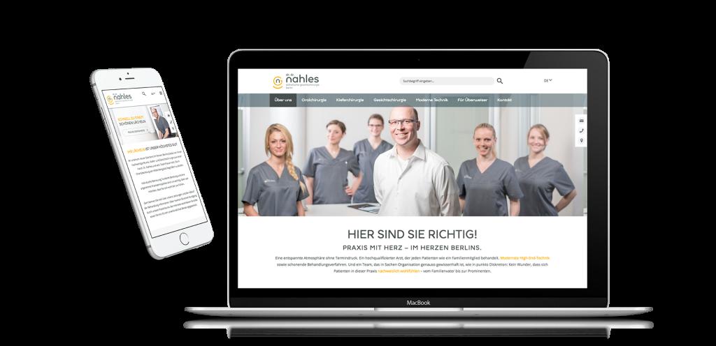 Alaventa GmbH Referenz Dr. Nahles Berlin Website, responsive Design