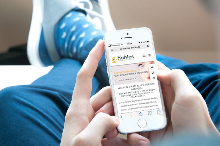 Alaventa GmbH Referenz Dr. Nahles Berlin Website mobile Website, Startseite Homepage, responsive Design
