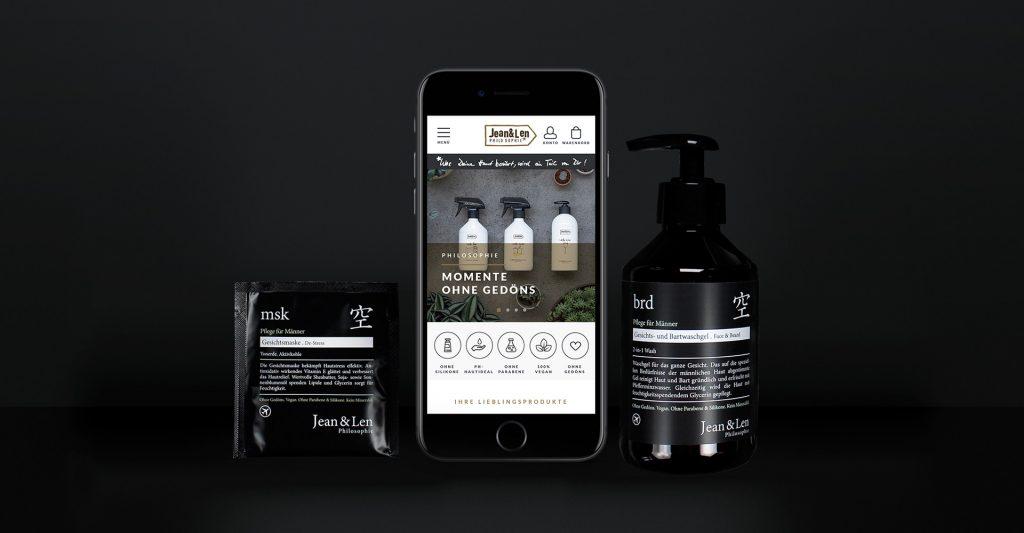 Alaventa GmbH Referenz Jeanu0026Len Zusammenspiel Produktverpackungen Und  Design Der Website, Homogenes Erscheinungsbild Online Shop